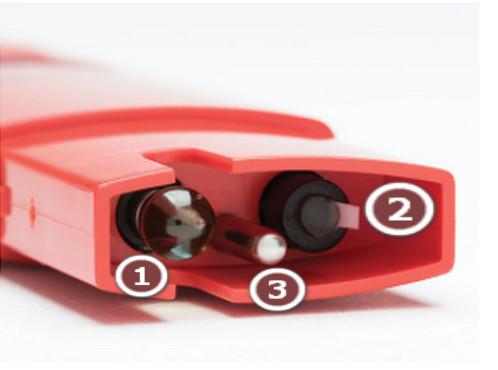 Cấu tạo đầu điện cực bút đo độ pH